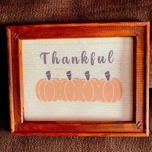 "Thankful ""canvas"""